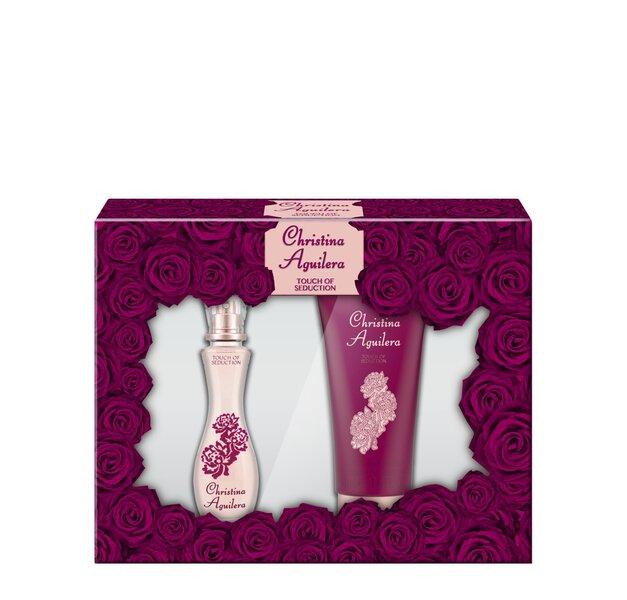 Komplekt Christina Aguilera Touch Of Seduction: EDP naistele 30 ml + dušigeel 50 ml hind ja info | Naiste lõhnad | kaup24.ee