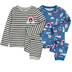 Tüdrukute pidžaama Cool Club, 2 tk, CUG2119986-00 hind ja info | Tüdrukute hommikumantlid ja pidžaamad | kaup24.ee