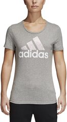 Pluus Adidas Foil Text Bos Grey hind ja info | Adidas Naiste riided | kaup24.ee
