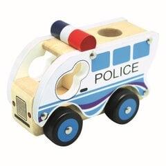 Деревянный автомобиль Bino Полиция цена и информация | Деревянный автомобиль Bino Полиция | kaup24.ee