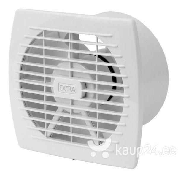 Vannitoa ventilaator EXTRA d120mm taimeri ja niiskusanduriga цена и информация | Vannitoa ventilaatorid | kaup24.ee