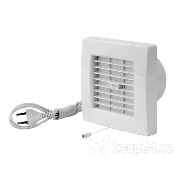 Vannitoa ventilaator Europlast EXTRA d100mm ribakatte, juhtme ja ripplülitiga hind ja info | Vannitoa ventilaatorid | kaup24.ee