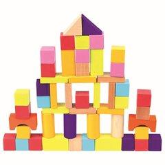 Деревянные цветные кубики Bino, 50 шт. цена и информация | Деревянные цветные кубики Bino, 50 шт. | kaup24.ee