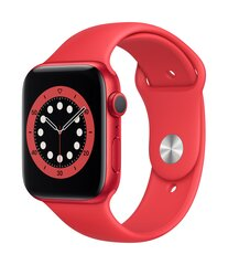 Смарт-часы Apple Watch Series 6 (GPS, 44mm) PRODUCT(RED) Aluminium Case with PRODUCT(RED) Sport Band цена и информация | Смарт-часы (smartwatch) | kaup24.ee
