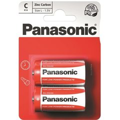 Батарейки Panasonic Red Zinc R14 (C), 2 шт.