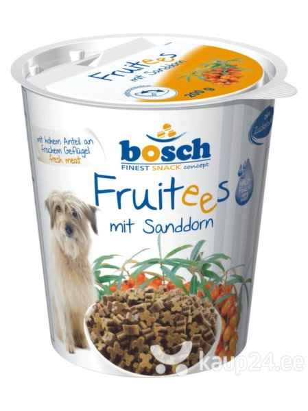 Bosch maius koertele Fruitees Sea 0,2kg цена и информация | Maiustused koertele | kaup24.ee