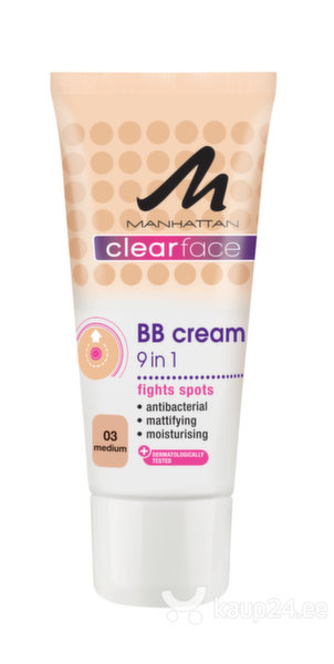 BB jumestuskreem Manhattan Clear Face 9in1 25 ml hind ja info | Näole | kaup24.ee