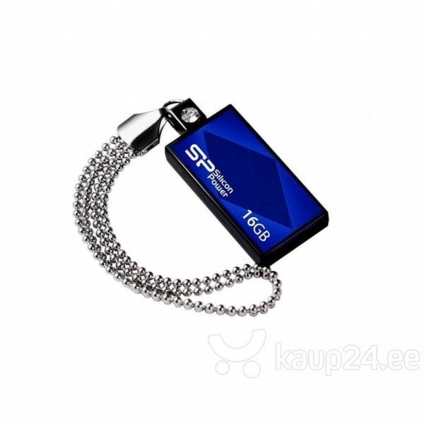 Mälupulk Silicon Power Touch 810 16GB, USB 2.0, sinine цена и информация | Mälupulgad | kaup24.ee