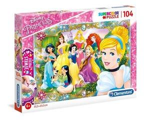 Pusle Clementoni Disney printsess (Disney Princess), 104 o. hind ja info | Pusled | kaup24.ee