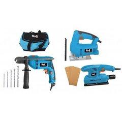 3 osaline elektriline tööriista komplekt WORK MEN WMPPPVSS