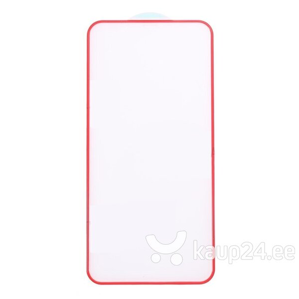 Ekraani kaitseklaas telefonile SILICONE EDGE iPhone X/XS/11 PRO RED Tempered glass Full Glue, Full Cover SOUNDBERRY hind ja info | Ekraani kaitsekiled | kaup24.ee