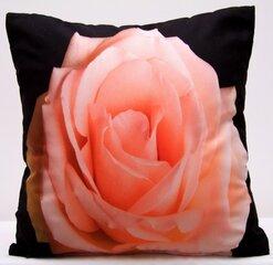 Dekoratiivne padjapüür, roos, must