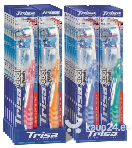 Keskmise kõvadusega hambahari Cool & Fresh Trisa, 1 tk цена и информация | Suuhügieen | kaup24.ee
