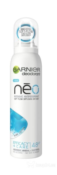 Spreideodorant Garnier Neo Pure Cotton Dry Mist 150 ml hind ja info | Deodorandid | kaup24.ee