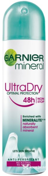 Garnier Mineral Ultra Dry Optimal Protection дезодорант-спрей