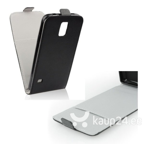 Kaitseümbris Forcell Flexi Slim Flip sobib Samsung Galaxy S5 (G900), must