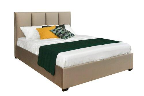 Voodi voodipesukastiga NORE Kelda, 160x200 cm, helepruun hind ja info | Voodid | kaup24.ee