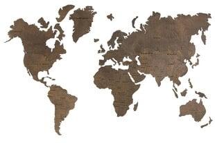 Puidust seina maailmakaart hind ja info | Seinapildid | kaup24.ee
