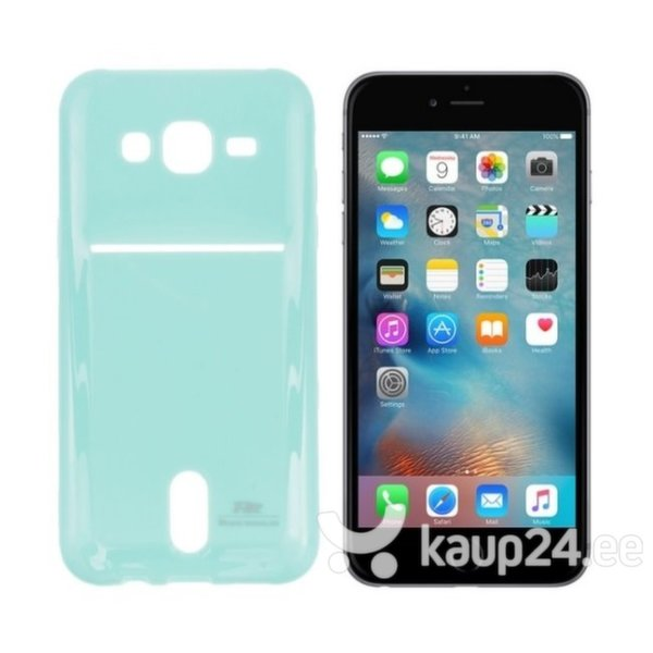 Kaitseümbris Roar Card Pocket Jelly sobib Apple iPhone 6/6S, helesinine цена и информация | Mobiili ümbrised, kaaned | kaup24.ee