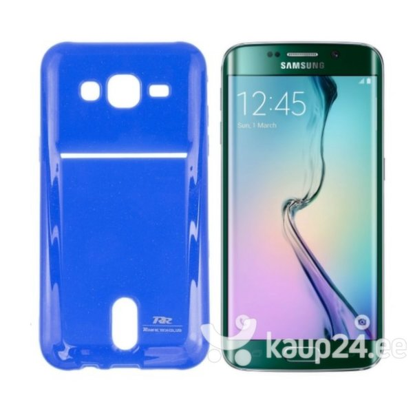 Kaitseümbris Roar Card Pocket Jelly sobib Samsung Galaxy S6 Edge (G925), sinine цена и информация | Mobiili ümbrised, kaaned | kaup24.ee