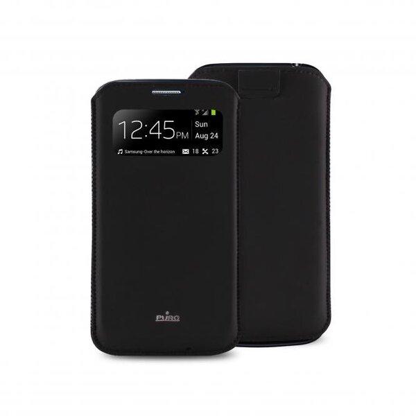 Kaitseümbris Puro sobib Galaxy S4 mini (i9190), PCCS4MINIVIEWBLK hind ja info | Mobiili ümbrised, kaaned | kaup24.ee