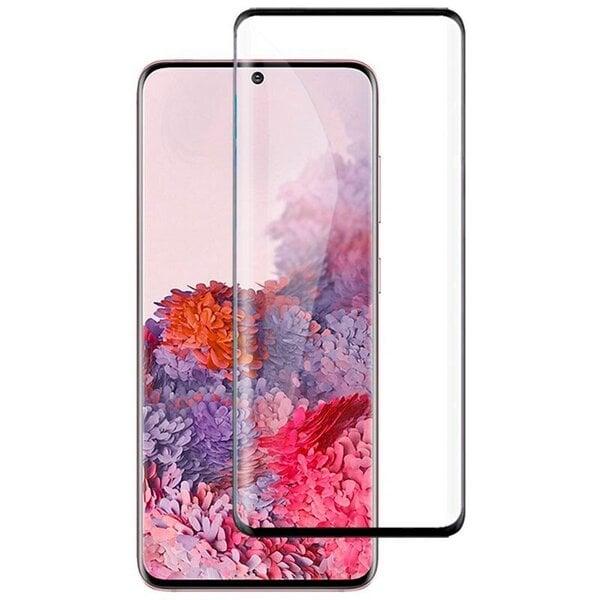 Fusion Full Glue 5D karastatud klaas täielikult kaetud raamiga Samsung G980 Galaxy S20 must hind ja info | Ekraani kaitsekiled | kaup24.ee