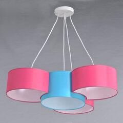 Laelamp BELLA 4, roosa/sinine hind ja info | Rippvalgustid | kaup24.ee