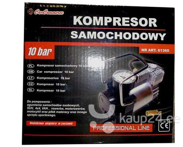 Õhukompressor 12V 10 bar цена и информация | Lisaseadmed | kaup24.ee