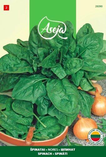 Spinat Nores, ASEJA, 2,5g, 28090( 2 ) цена и информация | Köögiviljade seemned | kaup24.ee