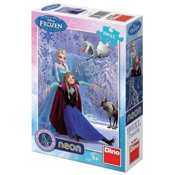 Пазл светящийся в темноте Frozen Dino, 100 деталей, 394070 цена и информация | Puzzle, mõistatused | kaup24.ee