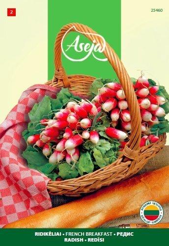 Redis French Breakfast 3, ASEJA, 5g, 25460( 2 ) цена и информация | Köögiviljade seemned | kaup24.ee