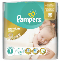 Памперсы PAMPERS Premium Care,  размер 1, 88 шт.