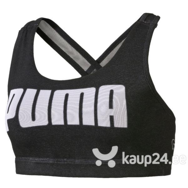 Naiste spordirinnahoidja Puma, must цена и информация | Rinnahoidjad | kaup24.ee