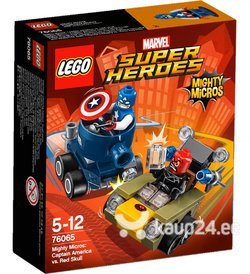 Klotsid Lego Super Heroes Mighty Micros: Captain America vs. Red Skull 76065​ цена и информация | Kokkupandavad mänguasjad | kaup24.ee