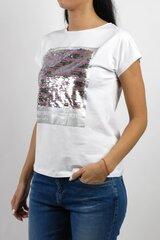 Naiste t-särk Bluoltre, valge hind ja info | Naiste T-särgid | kaup24.ee