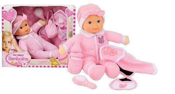 Pehme nukk koos tarvikutega Bambolina My First, FB372 цена и информация | Tüdrukute mänguasjad | kaup24.ee