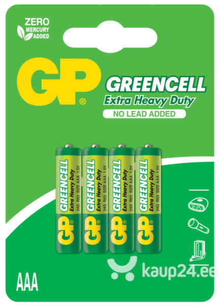 GP Greencell patareid R03 (AAA) цена и информация | Patareid | kaup24.ee