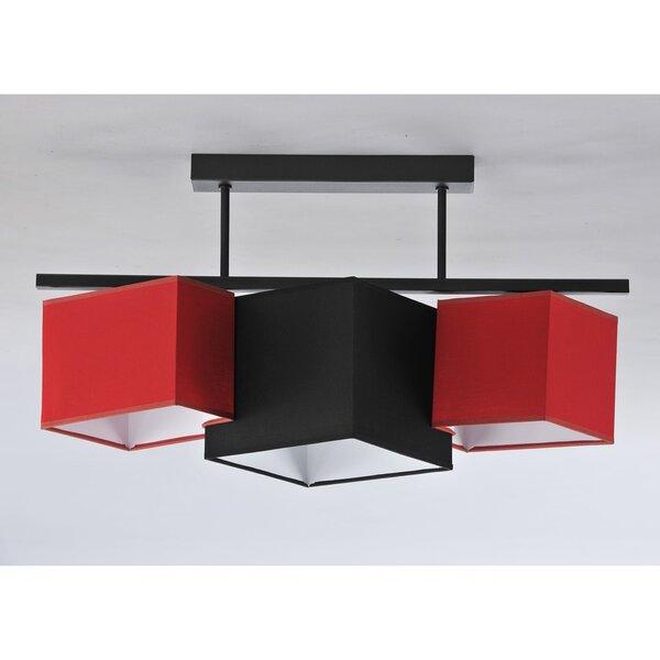 Laelamp PUZZLE BELKA, punane/must hind ja info | Rippvalgustid | kaup24.ee