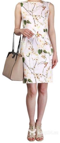 Naiste kleit Fontana 2.0, valge/roheline/pruun цена и информация | Kleidid | kaup24.ee