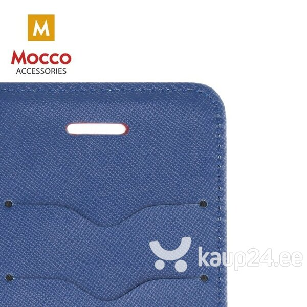 Mocco Fancy Book Case For Apple iPhone XS / X Sarkans - Blue tagasiside