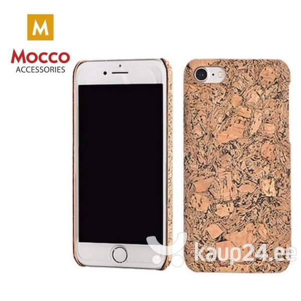 Mocco Cork Plastic Back Case for Apple iPhone 7 / 8 Brown