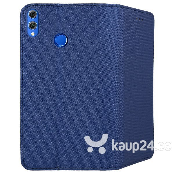 Mocco Smart Magnet Book Case For LG G7 / LG G7 ThinQ Blue tagasiside