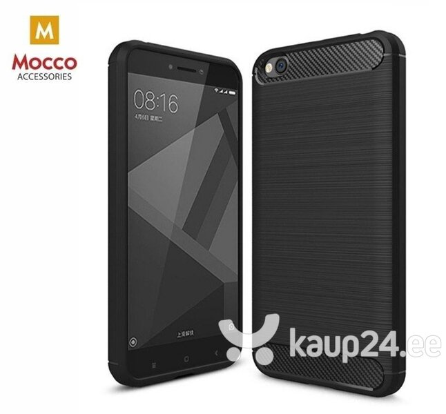 Mocco Trust Silicone Case for Xiaomi Redmi Go Black hind ja info | Telefoni kaaned, ümbrised | kaup24.ee