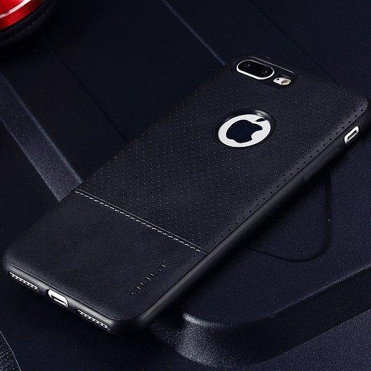 Qult Luxury Drop Back Case Silicone Case for Apple iPhone 7 Plus / 8 Plus Black soodsam