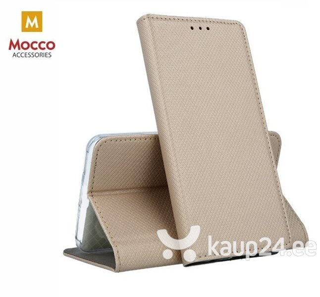 Mocco Smart Magnet Book Case For Nokia 9 PureView Gold hind ja info | Telefoni kaaned, ümbrised | kaup24.ee