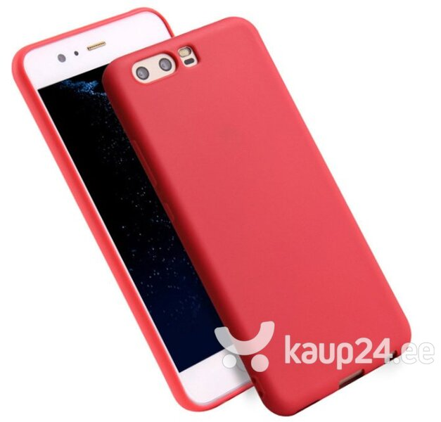 Mocco Ultra Slim Soft Matte 0.3 mm Silicone Case for Huawei P10 Lite Red hind