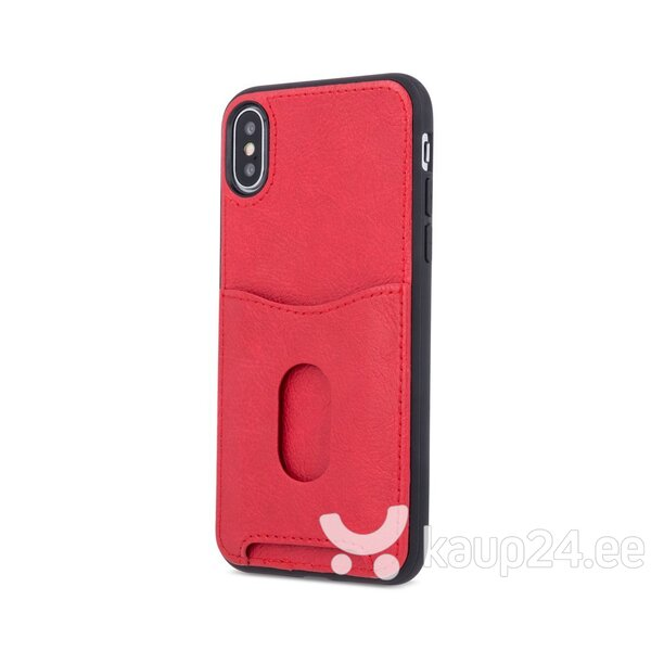 Mocco Smart Wallet Eco Leather Case - Card Holder For Apple iPhone 6 / iPhone 6S Red tagasiside