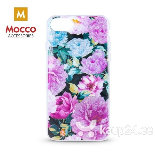 Mocco Spring Case Silicone Back Case for Samsung J610 Galaxy J6 Plus (2018) (Pink Peonies) hind ja info | Telefoni kaaned, ümbrised | kaup24.ee