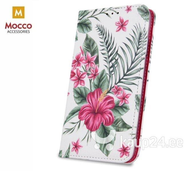 Mocco Smart Trendy Book Case For Samsung G960 Galaxy S9 Exotic Flowers hind ja info | Telefoni kaaned, ümbrised | kaup24.ee