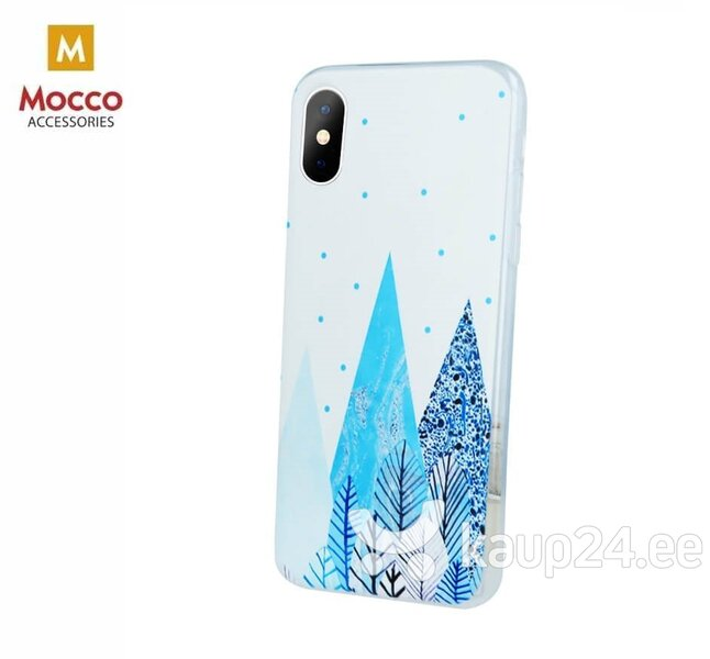 Mocco Trendy Winter Silicone Back Case for Huawei Y6 / Y6 Prime (2018) Forest Winter Motif hind